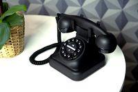 Profoon GRAHAM - Klassisches schnurgebundenes Telefon, schwarz