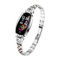Frauen Smart Watch Sport Armband Tracker EKG Blutdruckmessgerät Smartwatch,Farbe:Silber