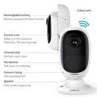Reolink Argus 2 Überwachungskamera Aussen WLAN Akku, 1080P kabellose IP Kamera Outdoor WiFi mit 2-Wege-Audio, PIR Sensor, Sternenlicht Nachtsicht und SD Kartenslot 64 GB - Generation II