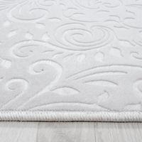 Design Wohnzimmerteppich Teppich Waschbar Rutschfest Steinboden Motiv Anthrazit