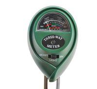 Bodenmessgerät PH Saurer 3 in 1 Bodentester PH Wert Messgerät Feuchtigkeitsmesser Licht Indoor & Outdoor 8690
