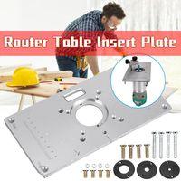 Aluminum Einlegeplatte Router Table Insert Plate Befestigungsplatte Für Oberfräse Zubehoer Frästisch DIY