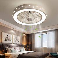 55cm Deckenventilator Deckenventilatorlicht Dimmbar Deckenleuchte Beleuchtung mit Fernbedienung für Restaurant Schlafzimmer Büro 220V (Konstellationsmodell)