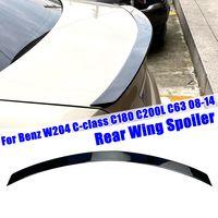 AUDEW Dach Heckspoiler Spoiler ABS für Benz W204 C C180 C200L C63 08-14 Glanz Schwarz