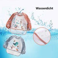 N/&F 3stk Wasserdicht Kleinkind Baby L/ätzchen Malsch/ürze Spuckt/ücher mit /Ärmel Latz