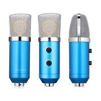 Professionelles Studiomikrofon USB-Kondensator-Tonaufnahmemikrofon mit Cardioid Studio-Aufnahmemikrofon fuer PC Laptop Blau