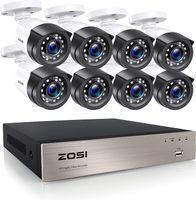 ZOSI 8CH H.265+ Full HD 1080p DVR Überwachungsset mit 8 Außen 2MP Video Überwachungskamera System ohne Festplatte