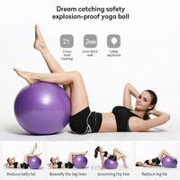 LOZAYI Sport Yoga Bälle Pilates Fitness Gym Balance Fitball Massage Ausbildung Workout Übung Ball  65cm mit pumpe