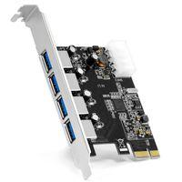 4-Port USB 3.0 PCIe Karte Schnittstellenkarte USB Hub intern Hub Adapter