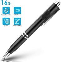 Digitales Diktiergerät Stift, 16GB Recorder Stift Voice Recorder Pen, Tragbarer Aufnahmegerät mit MP3 / schreibfunktion für Meetings, Interviews, Vorträge, Lernen