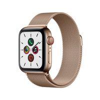 Apple Watch Series 5 GPS + Cellular 40mm Edelstahl Milanaise Armband Gold