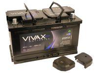 VIVAX AGM Autobatterie Versorgungsbatterie Starterbatterie 80Ah | 12V | 800 A Start Stop  | ersetzt 75Ah 85Ah | für Wohnmobile Audi VW BMW Ford Fiat Mercedes u.v.m.