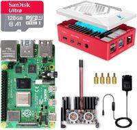 LABISTS Raspberry Pi 4 8GB, Raspberry Pi 4 Model B 8GB Ultimatives Kit mit 128GB Class10 Micro SD-Karte, 5, 1V 3, 0A USB-C EIN/Aus-Schaltnetzteil, Kš¹hlk?rper, Micro HDMI-Kabel, Premium Geh?use