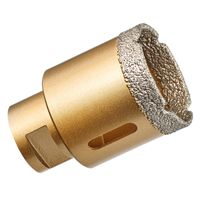 GraniFix Ø 40 mm Diamantbohrer M14 Bohrkrone Fliesenbohrer Trockenbohrer Diamantbohrkrone für Winkelschleifer Trennschleifer
