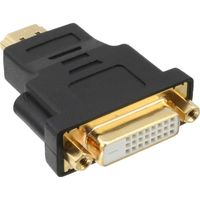 InLine® HDMI-DVI Adapter, HDMI ST auf DVI BU, 4K2K kompatibel, vergold. Kontakte