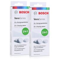 Bosch VeroSeries TCZ8001A Reinigungstabletten 2in1 - 10 Tabletten (2er Pack)
