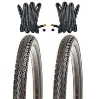 2x KUJO Fahrradreifen 14 Zoll Reifen 14x1.75 47-254 inkl. 2 x Schlauch mit AV.