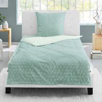 Irisette Biber Bettwäsche 2 teilig Bettbezug 135 x 200 cm Kopfkissenbezug 80 x 80 cm Nubis 8122-20 blau