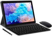 LNMBBS Tablets 10 Zoll (25.54cm) mit Tastatur, Android 10.0, Octa-core Tablet PC, 4GB RAM, 64GB ROM, 1200x800 FHD, 4G LTE Dual SIM, WLAN, GPS, N10, Farbe: Grau