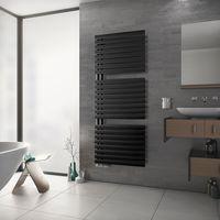 Handtuchwärmer Einseitig Offen Badheizkörper Ovalprofil XIMAX Fortuna-Open Anthrazit Höhe 1802 mm, Breite 600 mm 1017 Watt