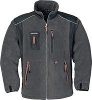 Fleecejacke Gr. XXXL dunkelgrau/schwarz/orange 100 % Polyester