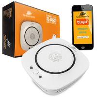 Smart Home Gasmelder WiFi WLAN, LPG Erdgas Detector, Gasmelder Smartphone APP, Alexa Google Home Tuya, Spacetronik SL-DG01