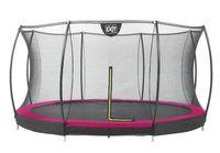 Trampolin EXIT Silhouette Ground mit Sicherheitsnetz Ø366cm Lime pink