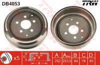 Trw Bremstrommel Hinterachse DB4053