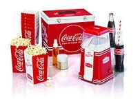 Coca Cola Popcornmaschine für 6 Personen mit Metallgehäuse