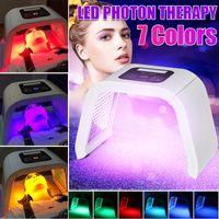 Professionelle 7-Farben-PDT-LED-Gesichtsphotodynamische Photonenlichttherapie für gesunde Hautverjüngung Kollagen, Anti-Aging, Falten, Hautpflegegerät für das Gesicht AC100-240V