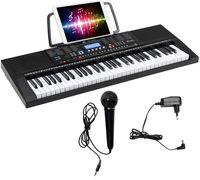 GOPLUS 61 Tasten Klavier Keyboard, Elektronische Digital piano, inkl. Mikrofon& Notenhalter, 300 Töne, 300 Rhythmen, 30 Demo Songs, Eingebaute Lautsprecher, Lehrfunktion, Anschlüsse für USB, Kopfhörer