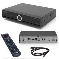 Xoro HRT 8772 TWIN HDD DVB-T2 / DVB-C Receiver mit Festplatteneinschub für TV Aufnahme und Timeshift (3 Monate FREENET TV) + HDMI Kabel, HDTV, PVR Ready, USB Mediaplayer, HEVC/H.265 (Antennenfernsehen oder Kabelfernsehen)