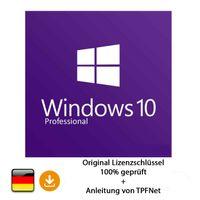 Microsoft® Windows 10 Pro 32 bit & 64 bit Vollversion Original Aktivierungsschlüssel per E-Mail + Anleitung von TPFNet®