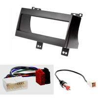CARAV 11-023-14-1 Radioblende Car 1-DIN in Dash Installation kit Set for KIA CEE'D 2007-2009 + ISO and Antenna Adapter Cable