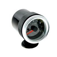 Universal Drehzahlmesser Tachometer Tacho Gauge Speedometer Kohlefaser Gesicht mit gelber LED Licht 2\'\' 52mm