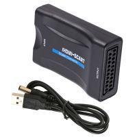 Scart zu auf HDMI Konverter Wandler AV Scaler Converter Adapter HD mit USB Kabel
