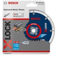 Bosch Professional X-LOCK Diamant Metalltrennscheibe 125 mm, zum Schneiden von Metall