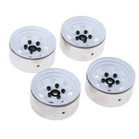 4 Stück Metall Felgennabe Wheel Rims für D90 SCX10 CC01 RCRUN