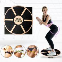 Balance Board Pad Kissen Wackelbrett Balance Kunststoff Physiotherapie, Farbe:Kunststoff Blau
