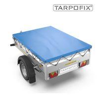 Tarpofix® Anhängerplane 211x116 cm - Flachplane mit Gummiseil  für Humbaur Steely & Startrailer I PKW Anhänger Abdeckplane