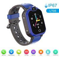 LT05 4G Intelligente Uhr für Kinder BT Videoanruf IP67 LBS Wasserdichte Anti-verlorene Unterstützung 11 Sprachen,Farbe:Blau