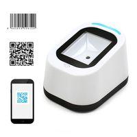 1D 2D QR Desktop Barcode Scanner USB Barcode Leser, erfasst Barcodes vom Handy-Bildschirm, automatische Bilderkennung,Weiß