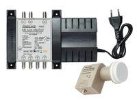 KREILING 11309, 1x terrestrisch 2x Sat-ZF, Female connector / Female connector, 4 Ausgänge, 190 - 260 V, 50 Hz