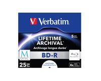 Verbatim M-Disc 4x, 25 GB, BD-R, Jewelcase, 5 Stück(e)