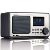 Lenco Radio DAR-010, DAB+, FM Radio, Farbe: Schwarz