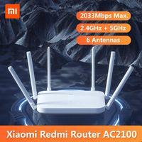 Xiaomi Redmi Router AC2100 2,4 GHz 5 GHz 2033 Mbit / s Gigabit Router 6 Antennen Dual-Core-CPU 128 MB Unterstuetzung 128 Geraete