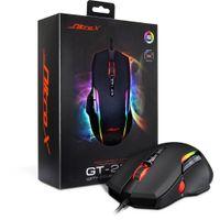 Inter-Tech GT-200 RGB - rechts - USB - 7200 DPI - Schwarz