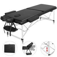 Yaheetech Mobile Massageliege 2 Zonen Klappbar Kosmetikliege Therapieliege Massagebett Aluminiumfüßen Größe:213 * 90cm