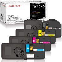 UniPlus 4er Set Kompatibel für Kyocera TK-5240 TK5240 TK-5240K TK-5240C TK-5240M TK-5240Y Toner für Kyocera Ecosys M5526cdw, Kyocera Ecosys M5526cdn, Kyocera Ecosys P5026cdw, Kyocera Ecosys P5026cdn