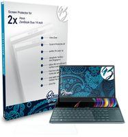 Bruni Basics-Clear 2x Schutzfolie kompatibel mit Asus ZenBook Duo (14 inch) Folie